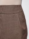 Юбка короткая с карманами oodji #SECTION_NAME# (бежевый), 11605056-2B/22124/3337C - вид 4
