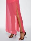 Юбка макси из струящейся ткани oodji #SECTION_NAME# (розовый), 13G00002-4B/42816/4D00N - вид 5