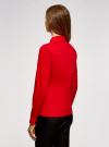 Блузка с баской и декором на воротнике  oodji #SECTION_NAME# (красный), 13K00001-2B/42083/4500N - вид 3