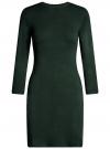 Платье базовое с рукавом 3/4 oodji для женщины (зеленый), 63912222-1B/46244/6E00N