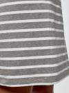 Юбка трикотажная на завязках oodji #SECTION_NAME# (серый), 14101103/47420/2310S - вид 5
