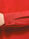 Блузка вискозная А-образного силуэта oodji #SECTION_NAME# (красный), 21411113B/26346/4501N - вид 5