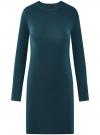 Платье вязаное базовое oodji #SECTION_NAME# (синий), 73912217-2B/33506/7400N