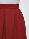 Юбка A-образного силуэта на молнии oodji #SECTION_NAME# (красный), 11600446/31291/4900N - вид 4