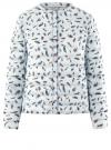 Куртка стеганая с круглым вырезом oodji для женщины (синий), 10204040-1B/42257/7019A