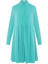Платье вискозное свободного силуэта oodji #SECTION_NAME# (бирюзовый), 11911036/42540/7300N