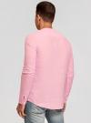 Рубашка льняная без воротника oodji #SECTION_NAME# (розовый), 3B320002M/21155N/4000N - вид 3