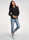 Блузка базовая из вискозы oodji для женщины (черный), 11411136B/26346/2900N