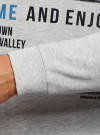 Свитшот прямого силуэта с принтом oodji #SECTION_NAME# (белый), 5L113091M/44382N/1275P - вид 5