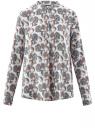 Блузка вискозная А-образного силуэта oodji для женщины (белый), 21411113B/26346/1270E