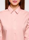 Блузка хлопковая с рукавом 3/4 oodji #SECTION_NAME# (розовый), 13K03005B/26357/4000B - вид 4