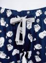 Брюки домашние с принтом oodji для женщины (синий), 59807010-4/46154/7910Q