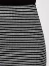 Юбка в рубчик на резинке oodji #SECTION_NAME# (серый), 14101086/46502/2529S - вид 4