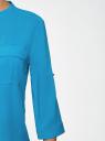 Блузка вискозная с регулировкой длины рукава oodji #SECTION_NAME# (синий), 11403225-3B/26346/7500N - вид 5