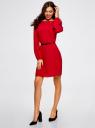 Платье вискозное с ремнем oodji для женщины (красный), 11900150-15B/42540/4500N