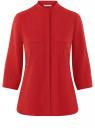 Блузка вискозная с регулировкой длины рукава oodji #SECTION_NAME# (красный), 11403225-9B/48458/4500N