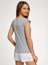 Пижама хлопковая с принтом oodji #SECTION_NAME# (серый), 56002220-5/49940/2012Z - вид 3