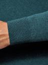 Пуловер базовый с V-образным вырезом oodji #SECTION_NAME# (зеленый), 4B212007M-1/34390N/6901M - вид 5