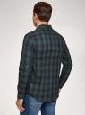 Рубашка в клетку с длинным рукавом oodji для мужчины (синий), 3L140024M-1/50380N/7962C