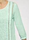 Блузка прямого силуэта с вышивкой oodji #SECTION_NAME# (зеленый), 11411094/45403/6500N - вид 5