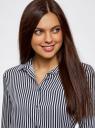 Блузка принтованная из вискозы oodji для женщины (синий), 11411087/43606/7912S
