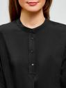 Блузка вискозная А-образного силуэта oodji #SECTION_NAME# (черный), 21411113B/26346/2900N - вид 4