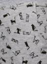 Брюки трикотажные на завязках oodji #SECTION_NAME# (серый), 16701042-1B/46919/2029Q - вид 5