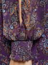 Платье шифоновое с манжетами на резинке oodji #SECTION_NAME# (фиолетовый), 11914001/15036/8855E - вид 5
