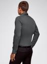 Рубашка базовая приталенная oodji #SECTION_NAME# (серый), 3B140000M/34146N/2300N - вид 3