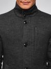 Пальто однобортное с воротником-стойкой oodji #SECTION_NAME# (серый), 1L312002M/48524N/2300N - вид 4