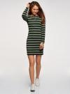 Платье базовое принтованное oodji #SECTION_NAME# (зеленый), 14011038-2B/37809/6629S - вид 2