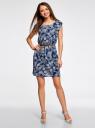 Платье вискозное без рукавов oodji #SECTION_NAME# (синий), 11910073B/26346/7930O - вид 2