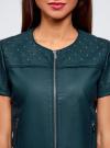 Куртка из искусственной кожи с короткими рукавами oodji #SECTION_NAME# (синий), 18A04010-1/46542/7500N - вид 4