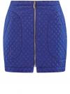 Юбка из фактурной ткани с молнией спереди oodji #SECTION_NAME# (синий), 11600410/38325/7501N