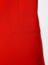 Жилет удлиненный с объемными лацканами oodji для женщины (красный), 22305003/38095/4500N - вид 5
