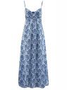 Сарафан хлопковый с принтом oodji для женщины (белый), 21913003-6/12836/1075E