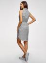 Платье хлопковое на кулиске oodji #SECTION_NAME# (белый), 11901147-5B/42468/3029F - вид 3