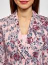 Жакет хлопковый приталенный oodji для женщины (розовый), 21203085-1B/14522/404AF