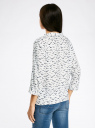 Блузка вискозная с рукавом-трансформером 3/4 oodji #SECTION_NAME# (белый), 11403189-2B/26346/1279O - вид 3