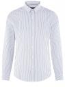 Рубашка приталенная из хлопка oodji #SECTION_NAME# (белый), 3L110364M/49093N/1075S