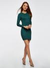 Платье базовое из вискозы с пуговицами на рукаве oodji #SECTION_NAME# (зеленый), 73912217-1B/33506/6E00N - вид 6