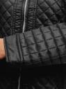 Куртка стеганая на молнии oodji #SECTION_NAME# (черный), 28304005/45684/2900N - вид 5