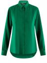Блузка базовая из вискозы oodji #SECTION_NAME# (зеленый), 11411136B/26346/6E00N