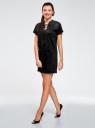 Платье из искусственной замши с завязками oodji #SECTION_NAME# (черный), 18L00001/45778/2900N - вид 6