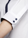 Рубашка базовая прилегающего силуэта oodji #SECTION_NAME# (белый), 11406016/42468/1000N - вид 5