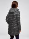Куртка удлиненная с асимметричным низом oodji #SECTION_NAME# (черный), 10203056-2B/42257/2910G - вид 3