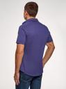 Рубашка базовая с коротким рукавом oodji #SECTION_NAME# (синий), 3B240000M/34146N/7801N - вид 3