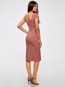Платье миди с вырезом на спине oodji #SECTION_NAME# (розовый), 24001104-5B/47420/4B01N - вид 3