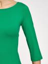 Платье трикотажное базовое oodji #SECTION_NAME# (зеленый), 14001071-2B/46148/6D00N - вид 5