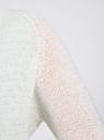 Кардиган из ленточной пряжи oodji для женщины (белый), 73205043-3B/46604/1000N